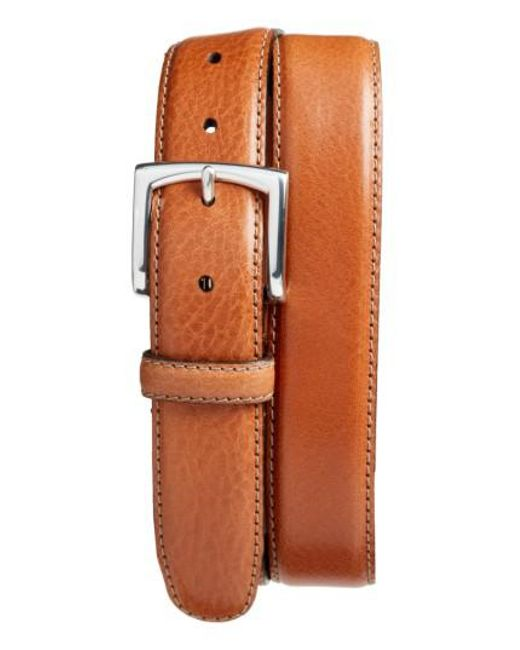 Bosca - Brown The County Line Leather Belt for Men - Lyst