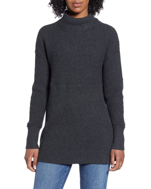 Caslon Gray Caslon Ribbed Tunic Sweater