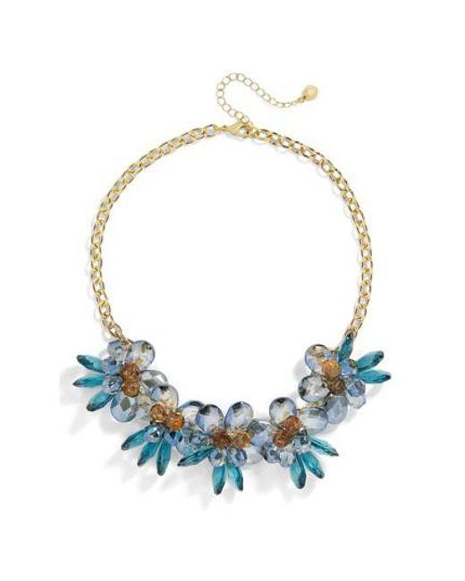 BaubleBar | Blue Large Flower Statement Necklace | Lyst