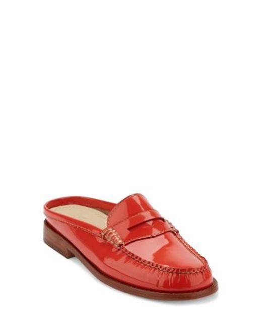 G.H. Bass & Co.   Red Wynn Loafer Mule   Lyst