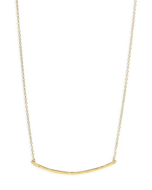 Gorjana - Metallic 'taner' Small Bar Pendant Necklace - Lyst