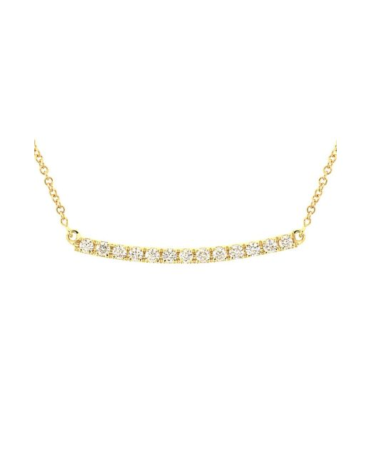 Bony Levy Metallic Stick Pavé Diamond Bar Necklace (nordstrom Exclusive)