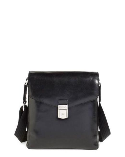 Bosca   Black 'man Bag' Leather Crossbody Bag for Men   Lyst