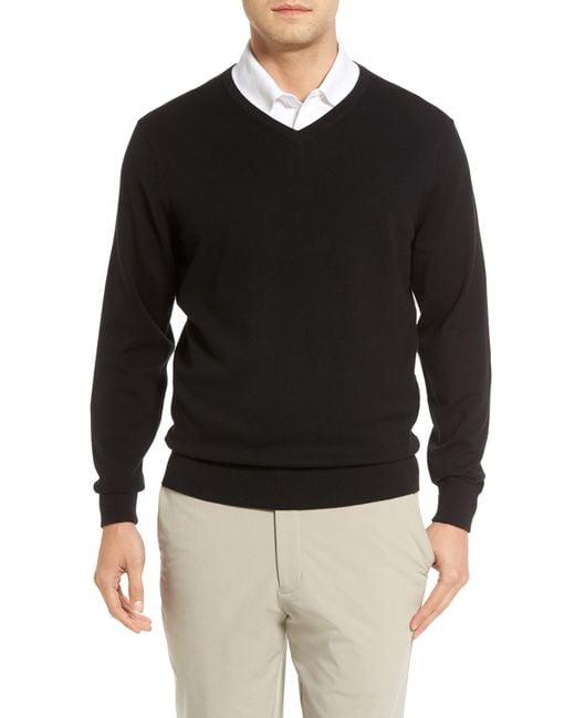 Cutter & Buck Black Lakemont V-neck Sweater for men
