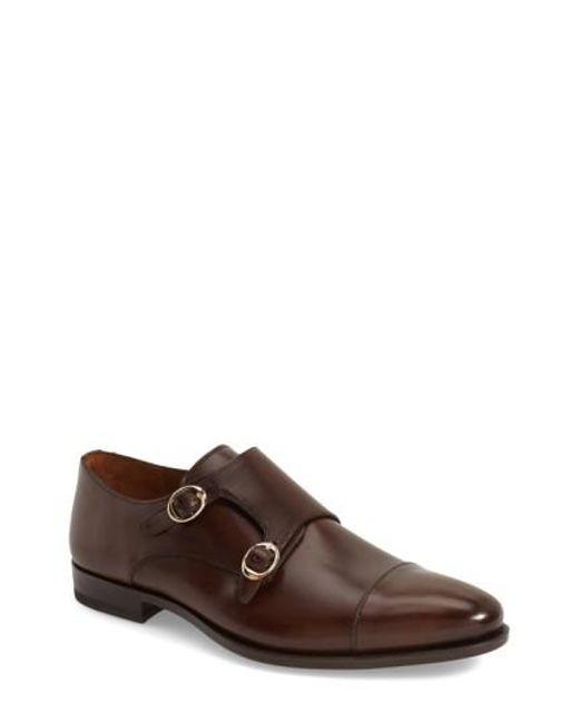 Mezlan | Brown 'rosales' Double Monk Strap Shoe for Men | Lyst