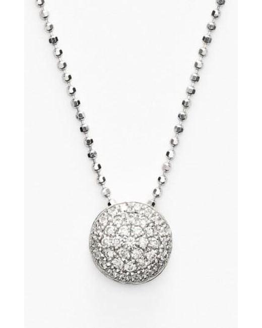 Bony Levy   Metallic 'eclipse' Pave Diamond Pendant Necklace (nordstrom Exclusive)   Lyst