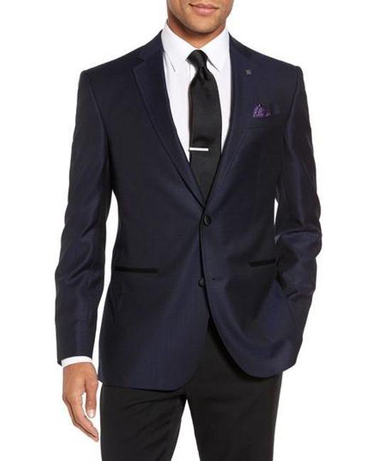 Ted Baker   Blue Jack Trim Fit Wool Dinner Jacket for Men   Lyst