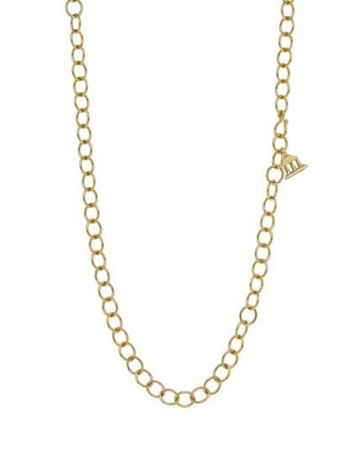 Temple St. Clair | Metallic Temple St. Clair Classic Oval Chain Necklace | Lyst