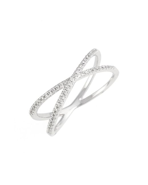 Bony Levy Metallic Stackable Crossover Diamond Ring (nordstrom Exclusive)