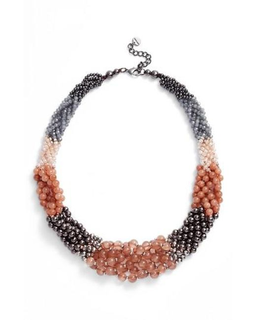 Nakamol | Multicolor Braided Stone Statement Necklace | Lyst