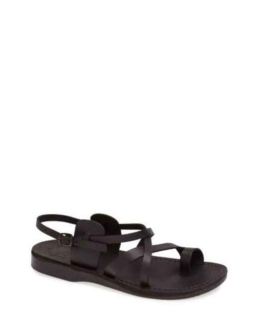 Mens Sandals Jerusalem Sandals Mens the Good Shepherd Leather Sandals 40 Brown Sandals black Amazing price