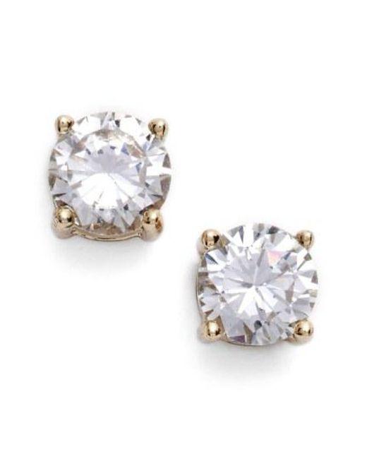 Givenchy - Metallic Crystal Stud Earrings - Lyst