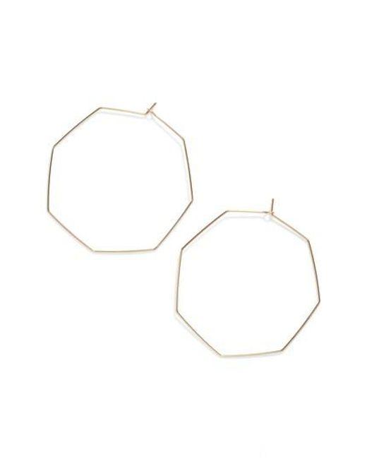 Nashelle   Metallic Octagon Hoop Earrings   Lyst