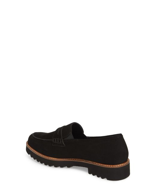 a5b58c2a9c ... Mephisto - Black Sidney Penny Loafer - Lyst