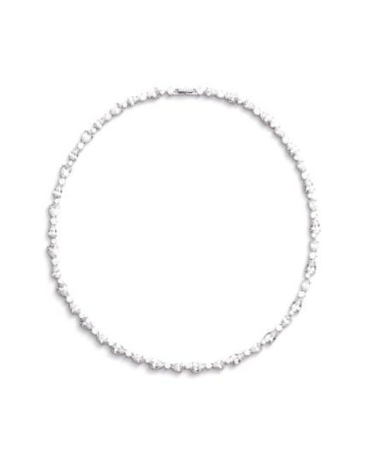 Nadri | Metallic Ava Crystal Collar Necklace | Lyst