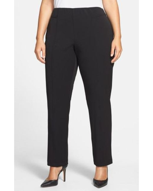 Vince Camuto | Black Seam Detail Pants | Lyst