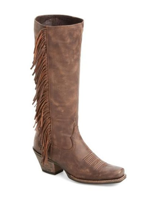 Ariat - Brown Leyton Fringe Western Boot - Lyst