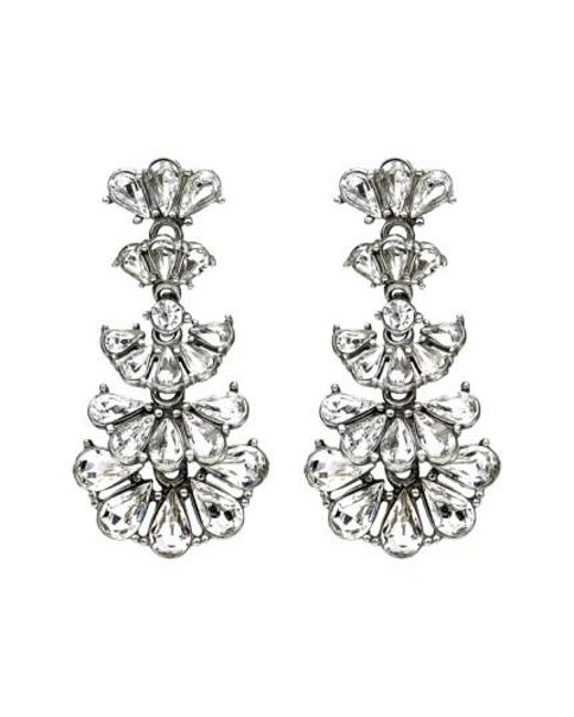 Ben-Amun - Metallic Cascading Crystals Drop Earrings - Lyst