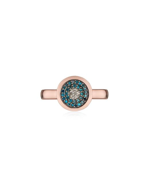 Monica Vinader - Multicolor Evil Eye Diamond Ring - Lyst