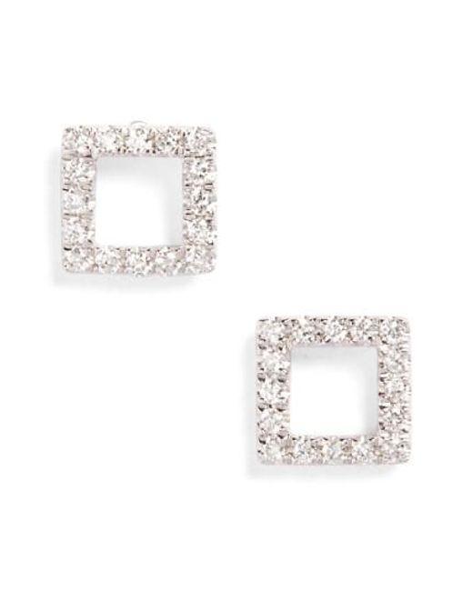 Bony Levy | Metallic Aurora Diamond Open Square Stud Earrings (nordstrom Exclusive) | Lyst