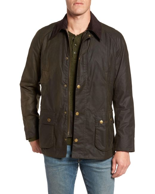 Barbour Brown Ashby Wax Jacket for men