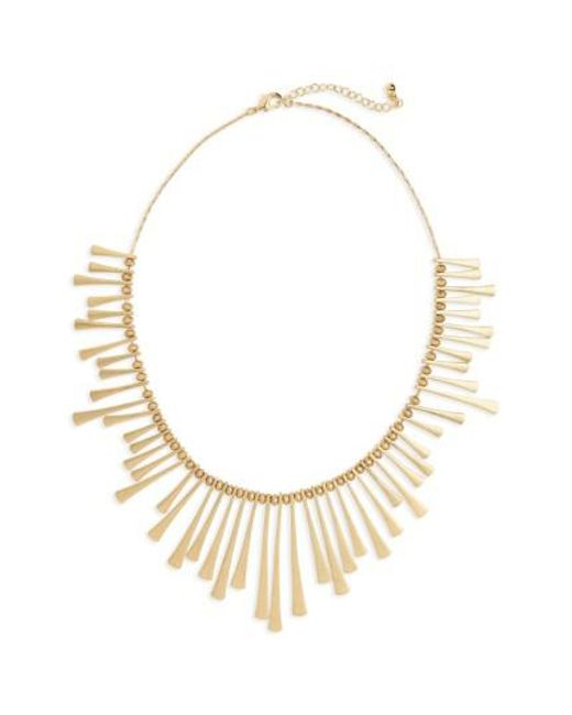 Panacea | Metallic Bar Bib Necklace | Lyst
