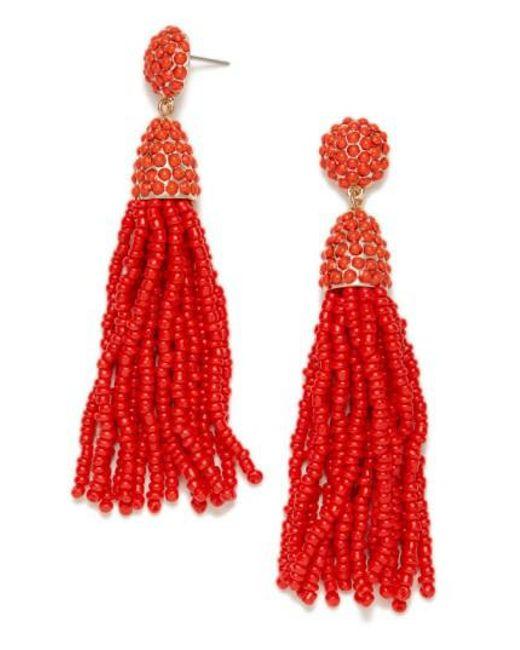 BaubleBar | Red Piñata Tassel Earrings | Lyst