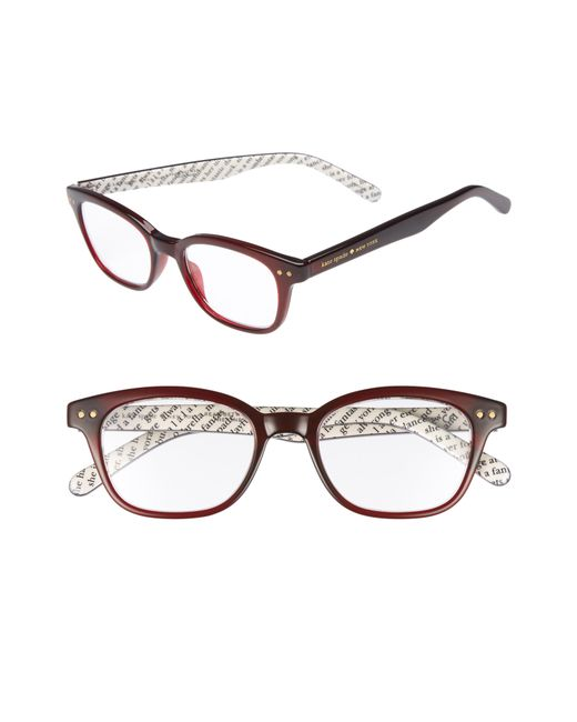 Kate Spade - Brown Rebecca 47mm Reading Glasses - - Lyst