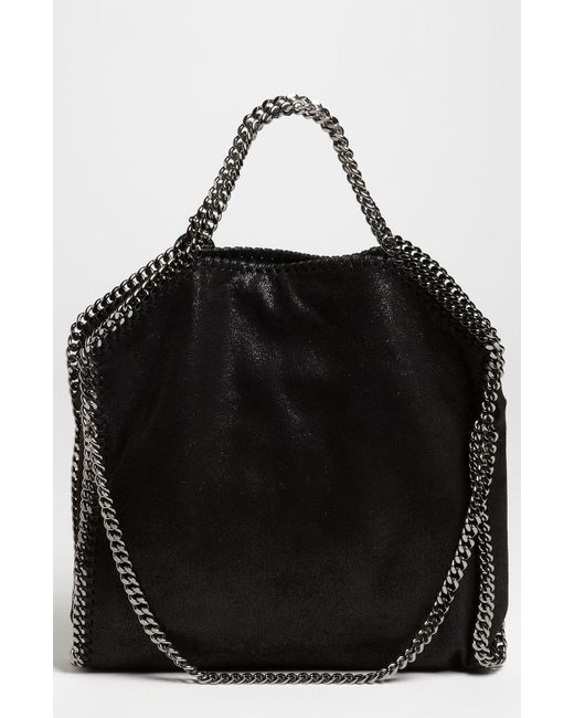 10d0e00820b Stella McCartney - Black  falabella - Shaggy Deer  Faux Leather Foldover  Tote - -