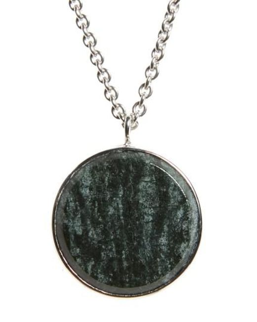Tom Wood | Green Marble Medallion Necklace | Lyst