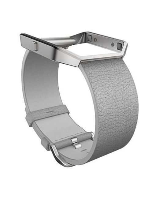 Fitbit | Gray Blaze Leather Smart Watch Band | Lyst