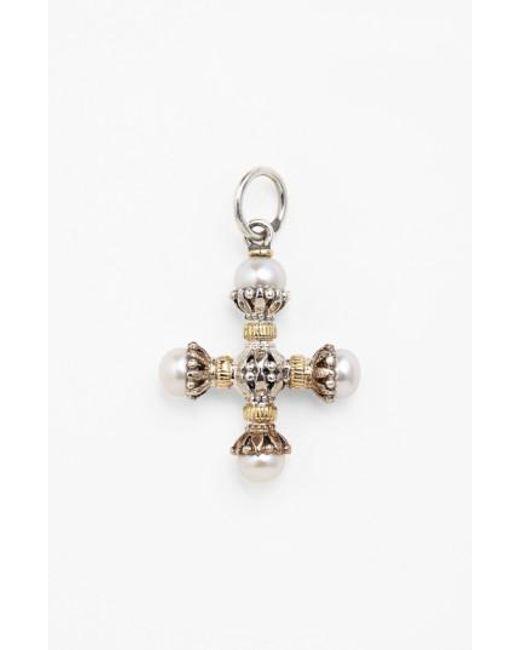 Konstantino | Metallic 'classics' Pearl Maltese Cross Pendant | Lyst
