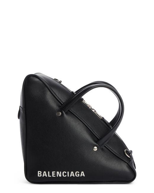 Balenciaga - Black Small Triangle Duffel Bag - Lyst