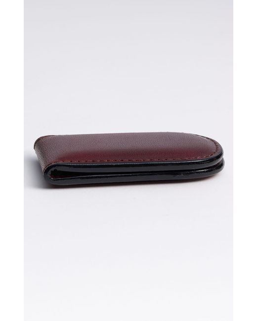 Bosca Brown Leather Money Clip for men
