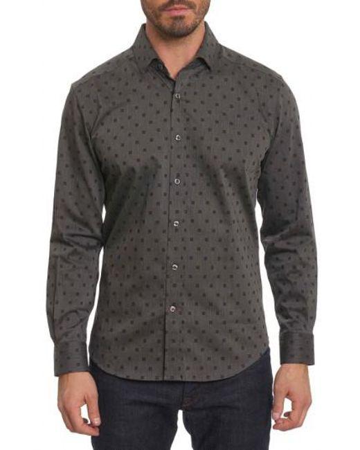 Robert Graham   Black Gabe Tailored Fit Sport Shirt for Men   Lyst