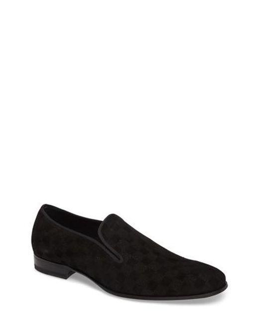 Mezlan | Black Gustave Textured Venetian Loafer for Men | Lyst