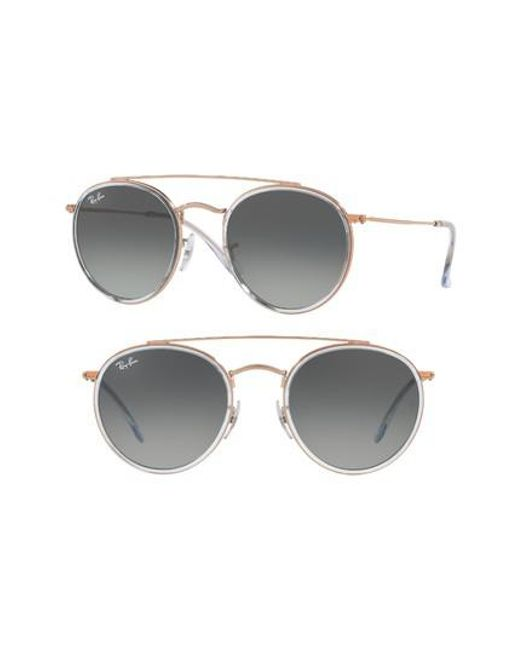 Ray-Ban | 51mm Aviator Gradient Lens Sunglasses - Lite Blue | Lyst