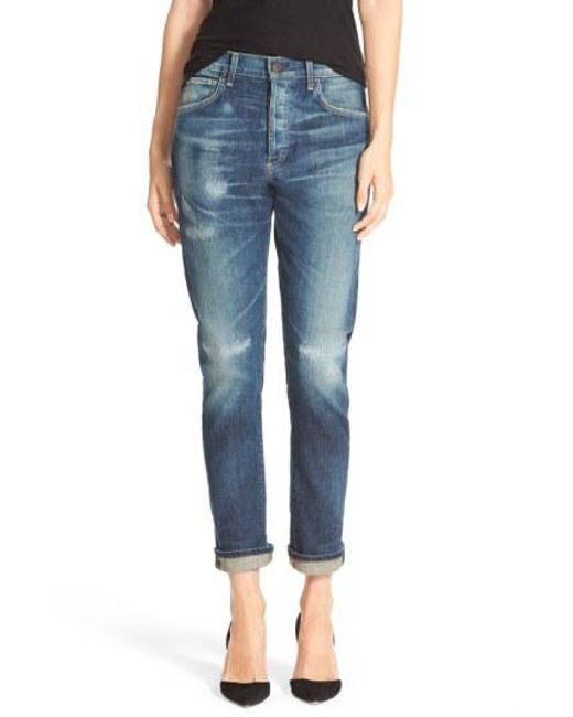 Citizens of Humanity - Blue 'corey' Slouchy Slim Jeans - Lyst