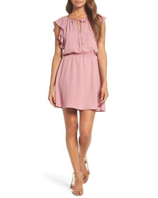 BB Dakota | Pink Adrienn Fit & Flare Dress | Lyst