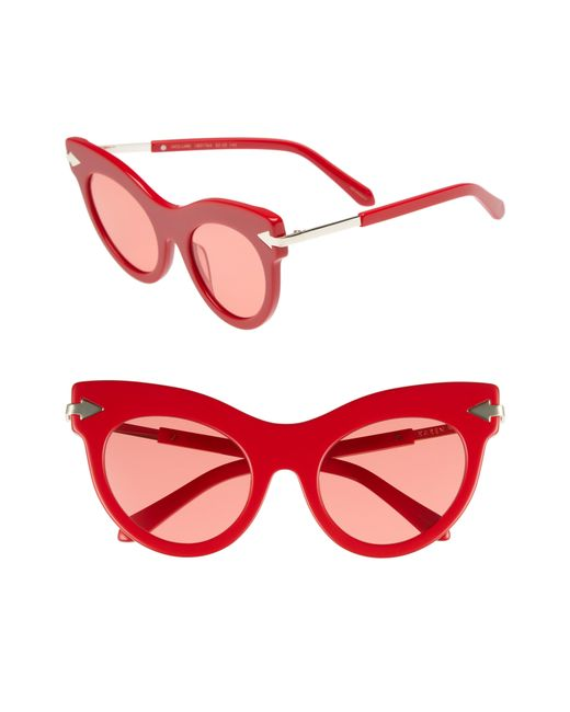 Karen Walker - Red Miss Lark 52mm Cat Eye Sunglasses - Lyst