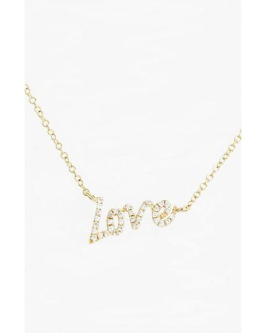 Lyst meira t meirat dazzling diamond love pendant necklace in meira t metallic meirat dazzling diamond love pendant necklace lyst aloadofball Image collections