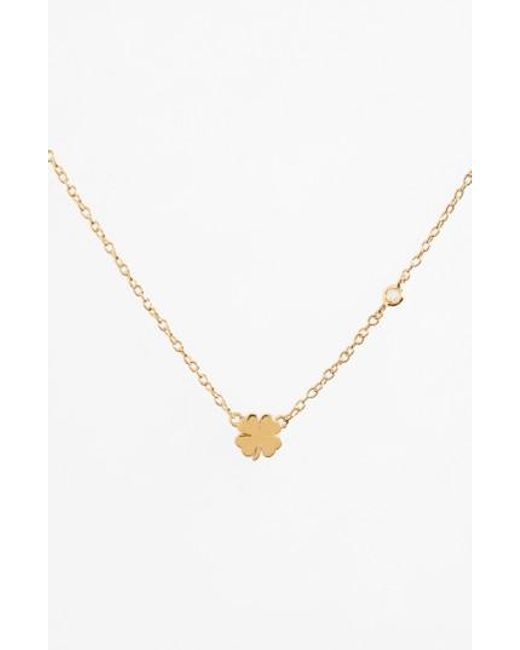 Shy By Sydney Evan | Metallic Clover Necklace | Lyst