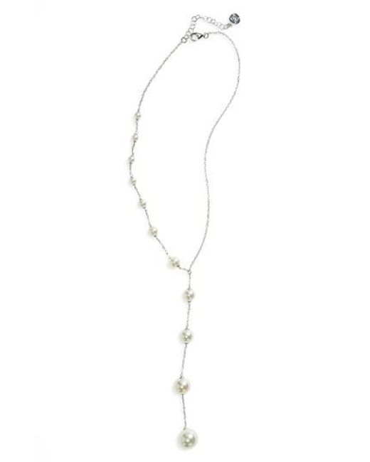 Majorica | White Illusion Simulated Pearl Y-necklace | Lyst