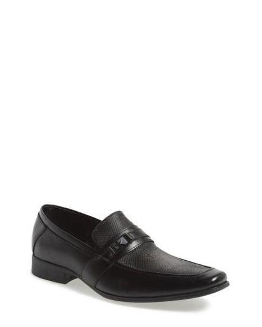 Calvin Klein - Black 'bartley' Bit Loafer for Men - Lyst