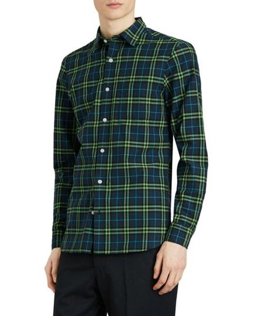 Burberry Alexander Woven Check Sport Shirt Clearance How Much Buy Cheap Amazon Discount Outlet Real For Nice Sale Online WUN1XELsa