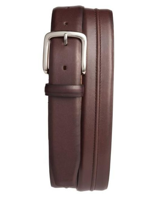 Cole Haan   Brown Pinched Seam Leather Belt for Men   Lyst