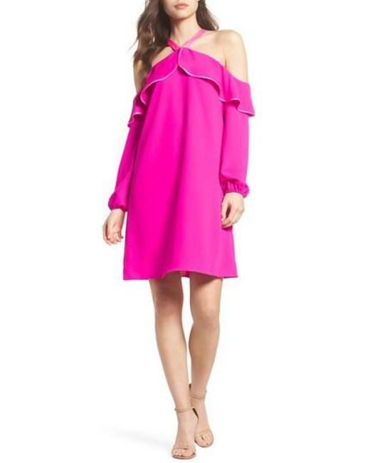 Lilly Pulitzer - Pink Lilly Pulitzer Abrielle Ruffle A-line Dress - Lyst