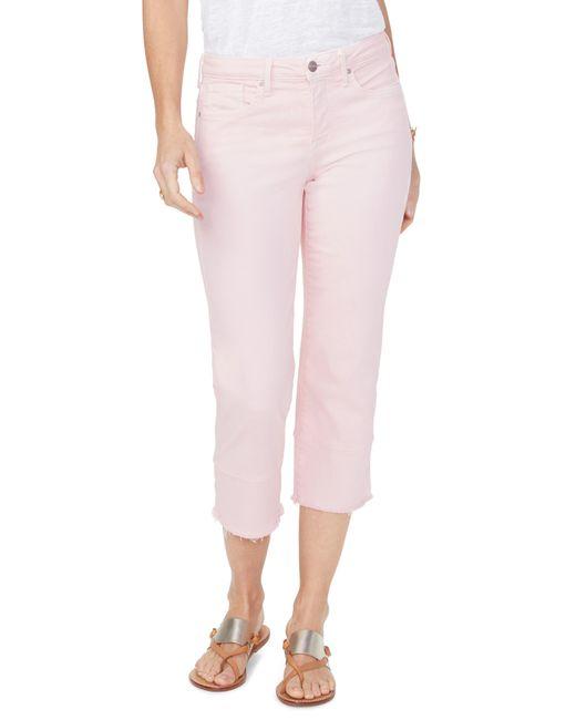 NYDJ Pink Capri Straight Leg Jeans