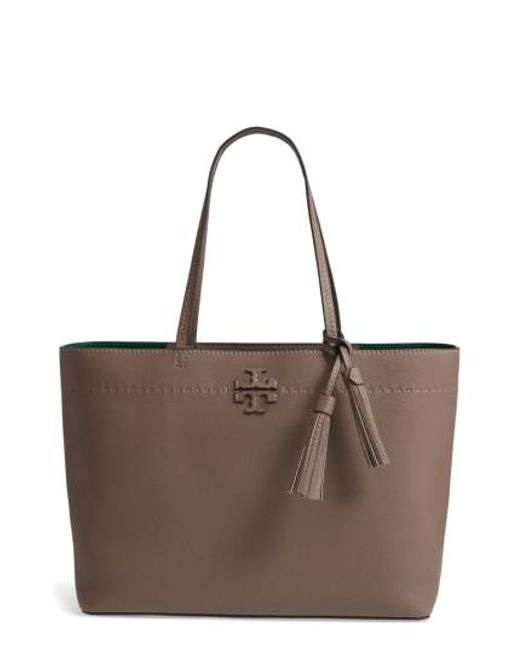 Tory Burch - Brown Mcgraw Leather Tote - Lyst