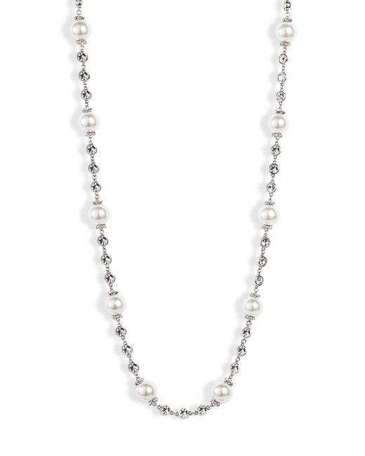 Jenny Packham - Metallic Imitation Pearl Collar Necklace - Lyst